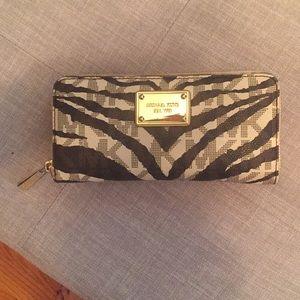 Michael Kors brown zebra wallet like new
